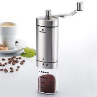Westmark Kaffeemühle, Handmühle, Bis zu 4 Tassen, Rostfreier Edelstahl/Keramik, Brasilia, Silber, 24902260