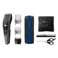 Philips HAIRCLIPPER Series 7000 Abwaschbarer Haarschneider mit Trim-n-Flow-PRO-Technologie, Schwarz, Grau, 0,5 mm, 2,8 cm, 4,1 cm, Edelstahl, Akku