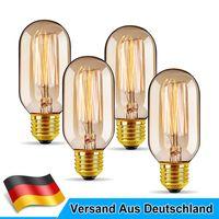 4X E27 40W T45  Vintage Glühbirne  Wolfram Filament Glühbirne 410LM Retro Glühlampe Licht