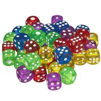 scarlet play | Würfelset »Casino 50« mit 50 Augenwürfeln, Spielwürfel aus umweltfreundlichem Acryl, Standardgröße für 6-seitige Würfel, inkl. Stoffbeutel, Farbe:Bunt