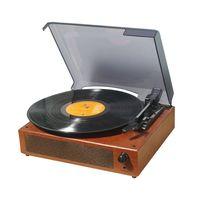 Tragbarer Schallplatten-Schallplattenspieler Vintage Classic Plattenspieler-Phonograph mit eingebauten Stereolautsprechern