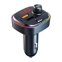 Bluetooth 5.0 KFZ-Adapter FM Sender QC3.0 + PD Schneller USB Ladeadapter Drahtloser Auto MP3 Player Freisprecheinrichtung mit Bass Audio Hintergrundbeleuchtung
