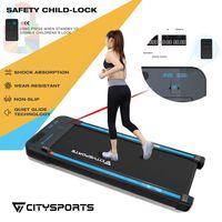 Elektrischer laufbänder Walking Laufband für zuhause, Walken im Büro, nicht zum joggen geeignet, Geschwindigkeit bis 6 km/h, starker & leiser Motor, Fernbedienung, Nutzergewicht bis 120 kg, Sicherheit