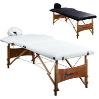 MOVIT® Mobile Massageliege, Massagebank, Weiß