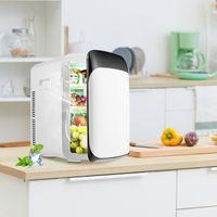 GOPLUS 15 L Mini Kühlschrank mit Heizfunktion, Tragbarer Autokühlschrank, Elektrischer Kühler und Erwärmer, Tragbarer Kühlschrank, mit ECO-Modus, -3 bis 50 °C, für Auto Haus Büro