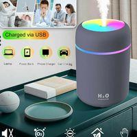 USB Auto KFZ Raum Luftbefeuchter LED Ultraschall Duftöl Aroma Diffuser Humidifier Diffusor 300ML