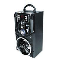 Media-Tech PARTYBOX BT MT3150 18 W Schwarz - PA-Systeme (18 W, Schwarz, Holz, Holz, LED, Digital, Verkabelt)