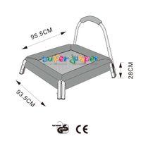 Super Jumper Mini Trampolin 95 cm   Kinder Trampolin   Indoor Trampolin   Sicherheitsnetz mit Stabilitätsring   Belastbarkeit 25 kg