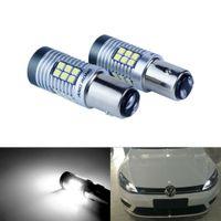 2x 1157 BAY15d P21/5W 12V LED Tagfahrlicht Rücklicht Lampen glühlampe DRL Xenon Weiß
