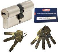 ABUS EC660 Doppelzylinder Länge (a/b) 45/45mm (c=90mm) mit Sicherungskarte und 8 Schlüssel, Not-u. Gefahrenfunktion und SKG** Bohrschutz