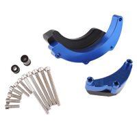 Motorrad Motor Rahmenschieber Crash Sliders Protector Sturzschutz für Yamaha MT-09 FZ-09 2014 - 2016 Farbe Blau