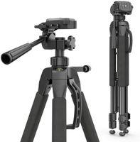 Hama - 4095 Dreibeinstativ Action 165 3D mit 3-Wege-Kopf und Spikes, 165 cm Höhe