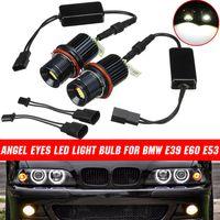 2x 80W 16LED Standlicht Angel Eyes Halo Marker Standlicht Für BMW E39 E60