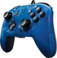 PDP Wired Controller Faceoff Deluxe + Audio für Nintendo Switch, blau-camouflage