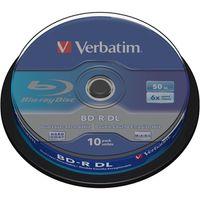 Verbatim Beschreibbare Blu-ray Disc - BD-R DL Rohling - 50 GB - 6x Schreibgeschwindigkeit - 10er Spindel - 120mm