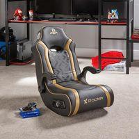 Ace Bayou X Rocker Gold 2.1 Floor Rocker - Konsolen-Spielstuhl - Playstation - Gepolsterter Sitz - Gepolsterte Rückenlehne - Schwarz - Schwarz
