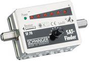 SCHWAIGER -SF70 531- SAT Finder (6+1 LED), Silber