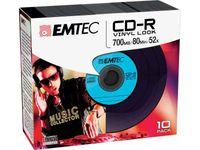 EMTEC CD-R Vinyl Look 700MB/52x Slim-Case (10 stk)
