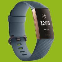 Hochwertiges Kunststoff / Silikon Uhr Armband für Fitbit Charge 3 und 4 Zubehör Neu, Farbe:Cyan-Blau, Ausführung:Größe S / Frauen
