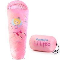 Skandika Kinderschlafsack Prinzessin Lillifee | bis 140 cm | weiches Innenfutter | Mumienschlafsack | Stautasche