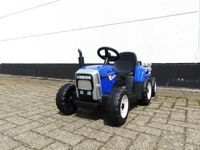 Kinder Elektroauto Traktor Kinderauto Trecker Kinderfahrzeug Elektro 2x25 W Blau