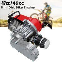 2 Takt 49cc Motor Pull Start mit Getriebe Rot Für Mini Pocket Bike ATV Scooter