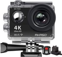AKASO Action Cam EK7000 4K WiFi Action Kamera/Unterwasserkamera 170°Ultra Weitwinkel Full HD Sports Kamera mit 12MP 2 Zoll LCD Bildschirm 2.4G Fernbedienung
