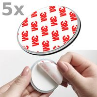5x Nemaxx NX1 Quickfix Magnet für Rauchmelder / Funkrauchmelder / Rauchmelder  -  - Extra stark