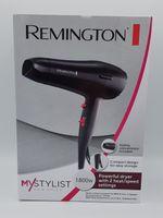 Remington D 2121 My Stylist Haartrockner schwarz / pink, Farbe:Schwarz