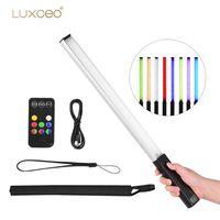LUXCEO Handheld Photography Light Tragbare LED-Videoleuchte Stab 3000K / 5750K / RGB Farbe 12 Helligkeitsstufen Bunter Stab mit Tragetasche Fotografie-Beleuchtungsset mit Fernbedienung