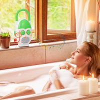 Wasserdichtes Duschradio mit Lautsprecher Mini AM / FM Radio für Badezimmer Nachttisch Grün