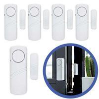 5x Türalarm Fensteralarm Alarmanlage Sirene Alarm Set Einbruchschutz Fenster Tür