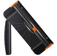 Papierschneider A4 Papierschneidegerät Titanium Papier Trimmer Fotoschneider mit automatischer Sicherheit Schutz Schwarz