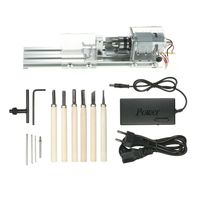 100W Mini Drehmaschine Drechselbank Perlen Poliermaschine Holz DIY Werkzeug A4E3