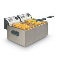 Fritel TURBO SF® PROFI-LINE 3855 - Professional deep fat fryer, 2 l, Doppel, Weiß, Edelstahl, 2 W, 230 V