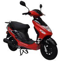 ALPHA MOTORS Motorroller »CityLeader«, 50 ccm, 45 km/h, Euro 4, rot