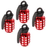 4 Stück Auto Motorrad Reifenschaft Ventilkappen Staubschutz 30x13x15mm Rot