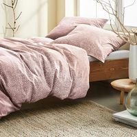 Irisette Biber Bettwäsche 2 teilig Bettbezug 135 x 200 cm Kopfkissenbezug 80 x 80 cm Feel 8212-70 mauve