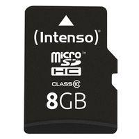 Intenso 8 GB microSDHC Karte Class 10 inkl. SD-Adapter