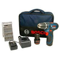 Bosch Professional GSR 12V-15 Akku-Bohrschrauber, 30 Nm, 2 x 2.0 Ah Akku, 25-tlg. Bit-Set, Tasche
