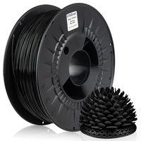 MIDORI® 3D Drucker 1,75mm PLA Filament 1kg Spule Rolle Premium Schwarz RAL9005