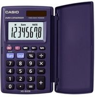CASIO Taschenrechner HS-8 VER Solar / Batteriebetrieb 8-stellig blau