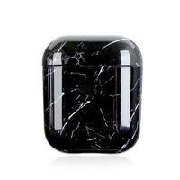 Hülle für Apple AirPods,PC-Hartschalen-Marmorstruktur, Apple Bluetooth-Headset All-Inclusive-Absturzsicherung
