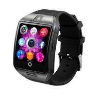 Wisam® Q18 Bluetooth iOS Android Smartwatch Kamera SIM TF Slot Tracker Touchscreen Schwarz