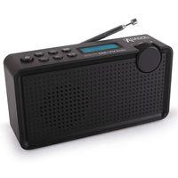 : Anadol ADX-P1 DAB/DAB+/UKW/FM Radio - 20 Senderspeicherplätze, tragbar, zweizeiliger LCD-Display, Sleep-Timer, Akku & Netzbetrieb, Lautsprecher & Kopfhöreranschluss, USB-Ladekabel - schwarz