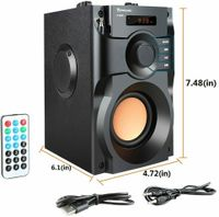 portabler Lautsprecher Bluetooth-Lautsprecher Subwoofer MP3-Player Fernbedienung FM-Radio