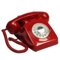GPO Retro 746, Analoges Telefon, Kabelgebundenes Mobilteil, Rot