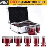 Ø20,35,45,50,68mm M14 Diamantbohrer Kit Diamantbohrkrone Fliesenbohrer Winkelschleifer