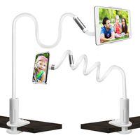 Schwanenhals Tablet Halterung, Tablet Halter Einstellbare Halter 360°Drehen Flexible Handy Halterung Lange Arme Tablet Ständer für für iPad Mini, iPhone, Samsung, Weitere 4-10,5 Zoll Geräte