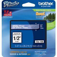 Etikettenband Brother TZE135 - 12,70 mm - Weiß, Glasklar - 1 Each